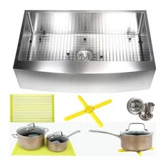 36 inch kitchen sink kitchens cabinets sinks houzz emoderndecor farmhouse apron front stainless steel package 16 gauge curv