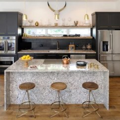 Gold Kitchen Scratch Dent Appliances Black And Ideas Photos Houzz Contemporary Open Concept Designs Example Of A Trendy Single Wall Medium Tone Wood