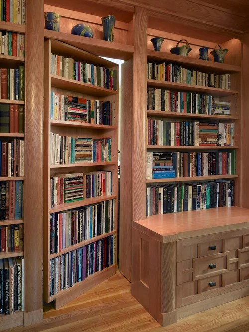 Hidden Door Bookcase Home Design Ideas, Pictures, Remodel