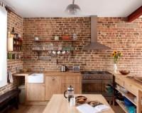 Exposed Brick Kitchen | Houzz