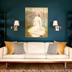 Living Room Decor Blue Walls Tan Leather Couch Teal Paint Color Home Design Ideas, Pictures, Remodel And ...
