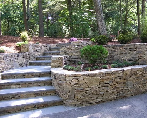 tiered retaining wall home design