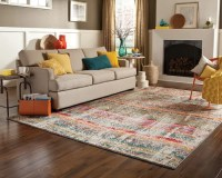 Modern Bright Colored Area Rug