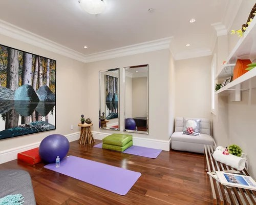 Awesome Home Yoga Studio Design Ideas Photos - Decorating Interior ...