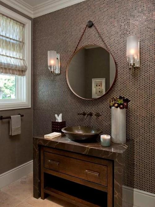 Penny Tile Backsplash Ideas Pictures Remodel and Decor