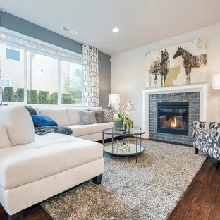 gray blue living room chandeliers for ideas photos houzz transitional medium tone wood floor photo in seattle with walls a standard