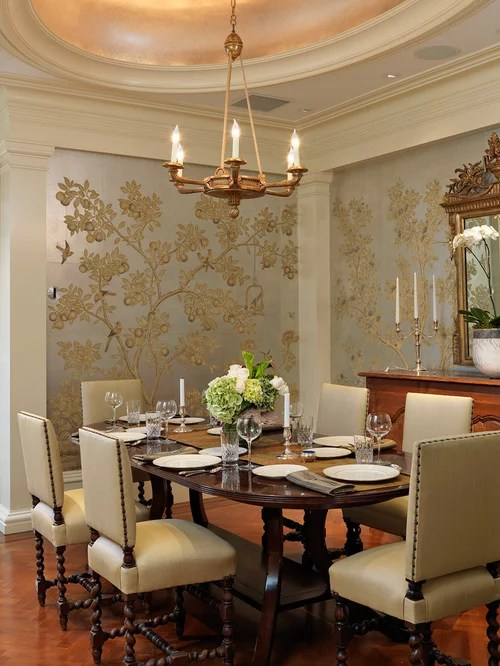 Dining Room Wallpaper Home Design Ideas Pictures Remodel