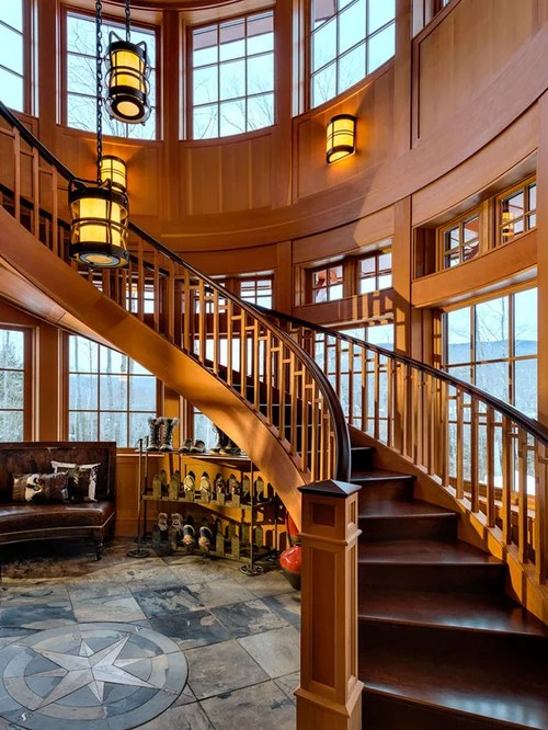 Rustic Staircase Design Ideas Remodels  Photos