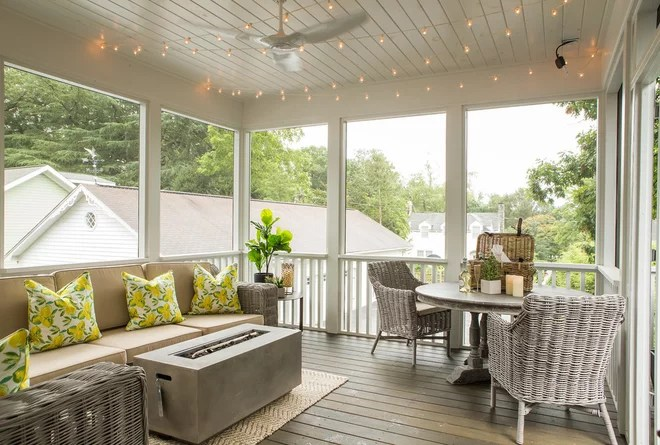 Transitional Porch by Steele's Design Studio and Boutique