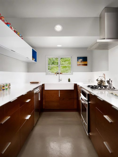 Brown And White Kitchen Houzz