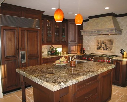 brown kitchen sink pendant lights above island juparana granite | houzz