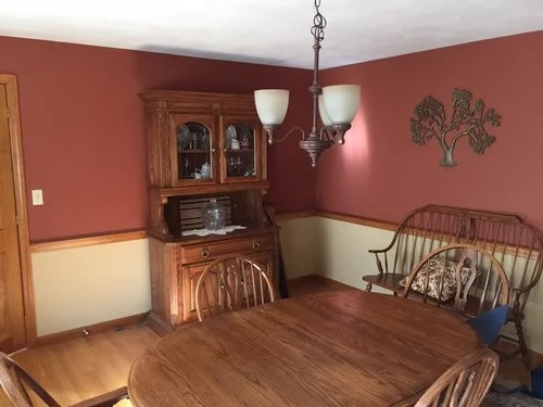 oak chair rail molding ideas paint colors for dining room lot of so open to happy and maybe some furniture but not doors trim