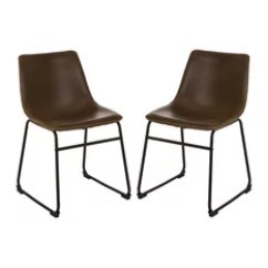Industrial Dining Chair Club Slipcovers Canada 50 Most Popular Room Chairs For 2019 Houzz Vintage Brown Leatherette Set Of 2