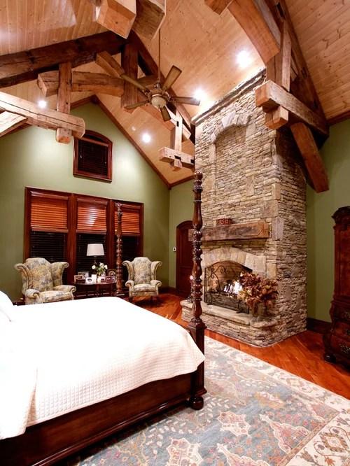Rustic Master Bedroom  Houzz