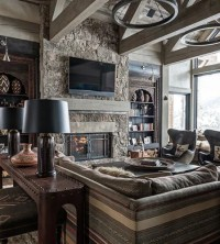 Rustic Living Room Design Ideas, Renovations & Photos with ...