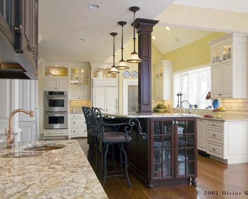 Backsplash For Dark Cabinets And Light Countertops Different Ceiling Heights | Houzz