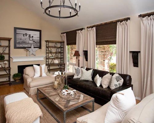 One of the mysteries of life. Leather Couch Living Room | Houzz