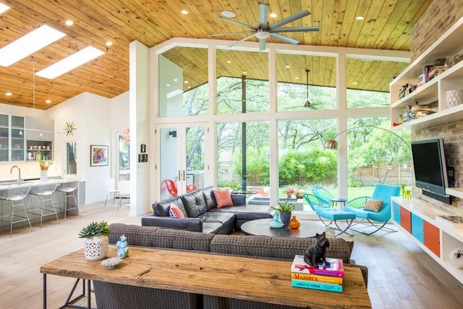 Midcentury Living Room by Christen Ales Interior Design