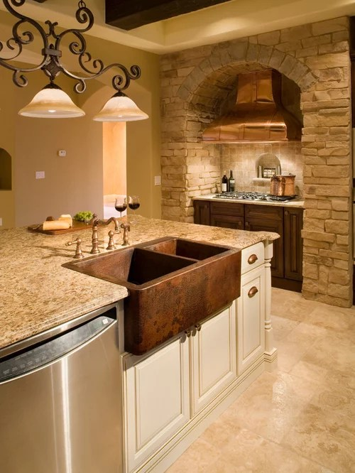 kitchen island wine fridge 4 piece stainless steel package tuscan style | houzz
