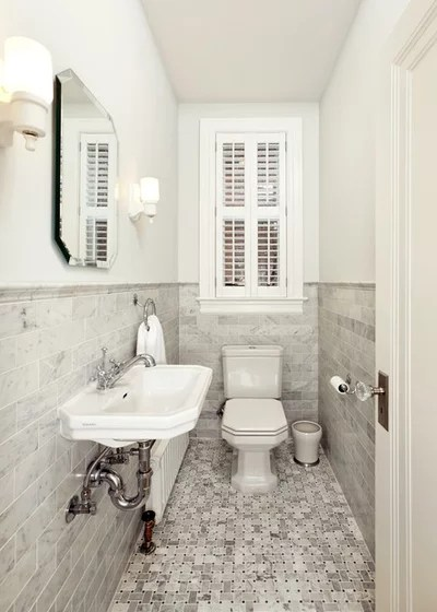 Victorian Powder Room by Four Brothers LLC