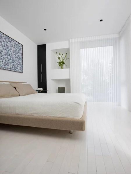 white floors in bedroom White Wood Floors | Houzz