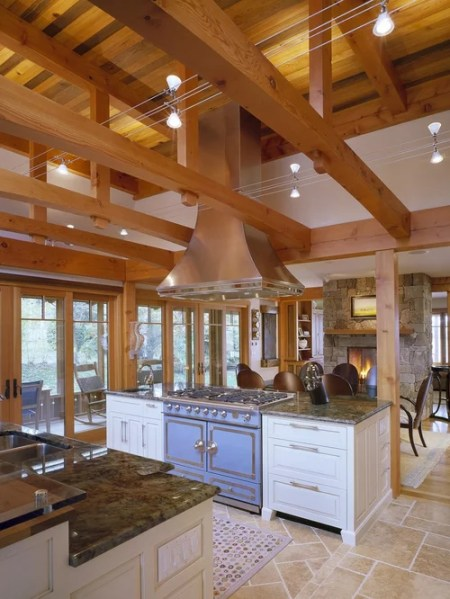 open kitchen with ceiling beams Open Beam Ceiling | Houzz