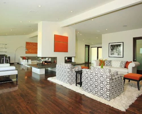Modern Lighting Fireplace Mantle Decoration Ideas That Has Orange Wall And Stone Make It