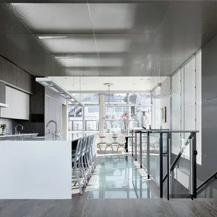 gray kitchen floor touchless faucets grey wood ideas photos houzz contemporary eat in designs inspiration for a remodel