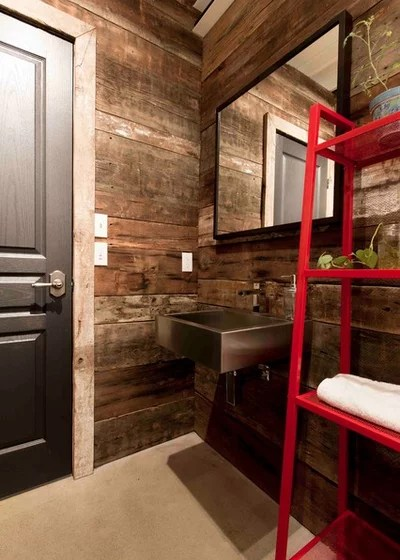 Industrial Powder Room by Les Collections Dubreuil