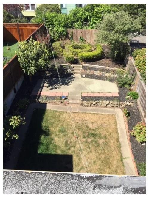 put dirt over existing concrete patio