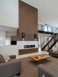 Wood Panel Fireplace   Houzz