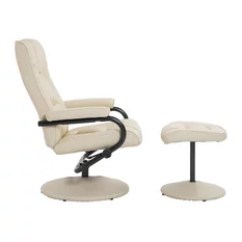 Leather Recliner Chair Swivel Replacement Parts 50 Most Popular Chairs For 2019 Houzz Aosom Homcom And Ottoman Set Cream
