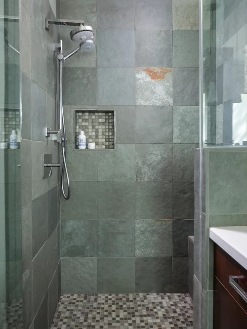 Best Rustic Tile Shower Design Ideas  Remodel Pictures  Houzz