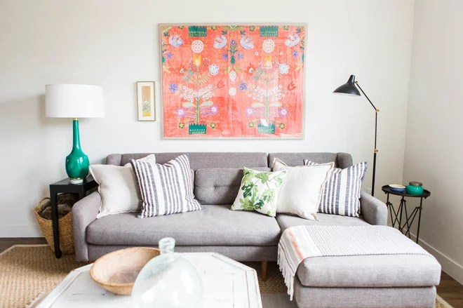 Eclectic Living Room by Ashley Winn Design