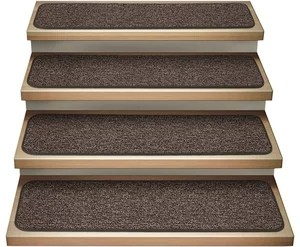 Dog Assist Carpet Stair Treads 8 X24 Weavers Guild Nomad Grey | Carpet Stair Treads For Sale | Bullnose Carpet | Staircase Remodel | Stair Runners | Carpet Runners | True Bullnose