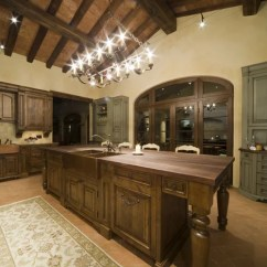 Dark Walnut Kitchen Cabinets Sink With Side Drain Board Best Tuscan Wall Color Design Ideas & Remodel Pictures | Houzz