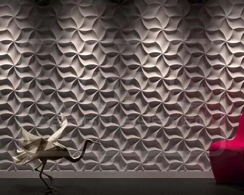 3D Wandpaneele aus Gips