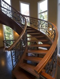 French Country Wrought Iron Railing Staircase | Houzz