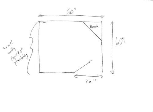 Shower layout help