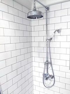 white metro tiles with grey or white