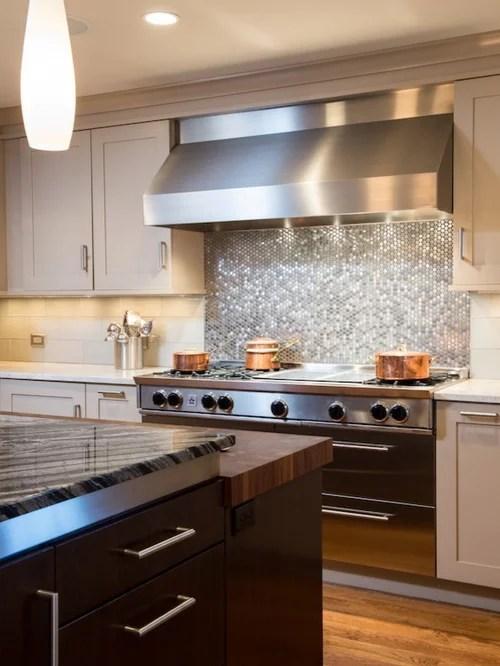 Penny Tile Backsplash Home Design Ideas Pictures Remodel
