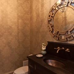 Farmhouse Undermount Kitchen Sink Height Of Bench Powder Room Wallpaper   Houzz