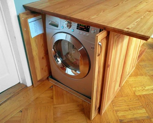 Disguised Washer And Dryer  Houzz