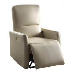 Leather Recliner Chair Teal Adirondack Chairs Plastic 50 Most Popular For 2019 Houzz Acme Furniture Raff Aire Power Motion Beige