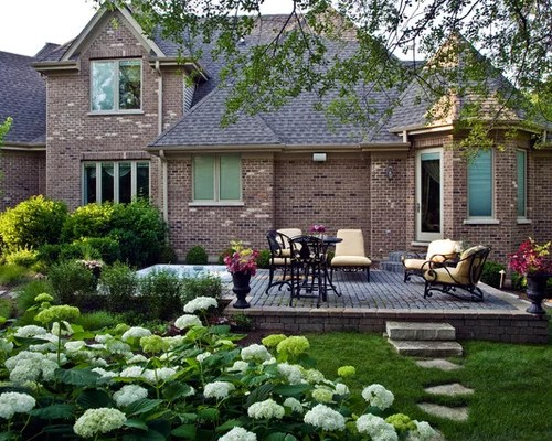 raised stone patio