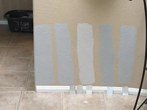 agreeable gray against beige tile