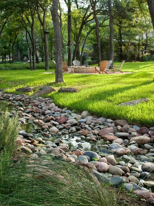 landscaped drainage ditch