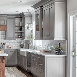 grey kitchen cabinets unique islands hardwood flooring transitional seattle by tacoma floors