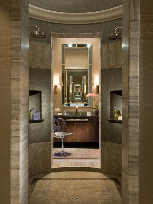 Walk Through Shower  Houzz