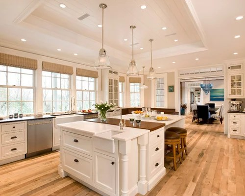 easiest kitchen floor to keep clean microwave cart farm sink on island | houzz